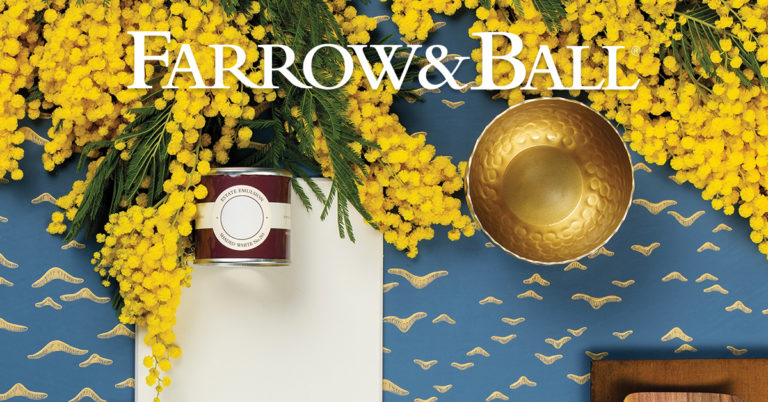 Metallic Tapete Farrow and Ball