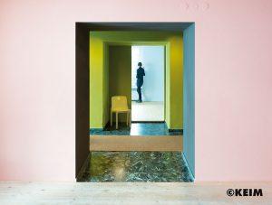 Wandfarbe auf mineralischer Basis Polychro Le Corbusier der Firma Keim