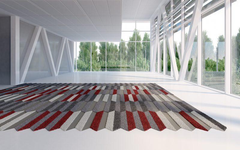 Vorwerk Teppichfliesen Kollektion TEXtiles SL //Forms Stripe